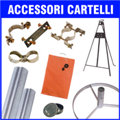 accessori per cartelli - supporti - cavalletti